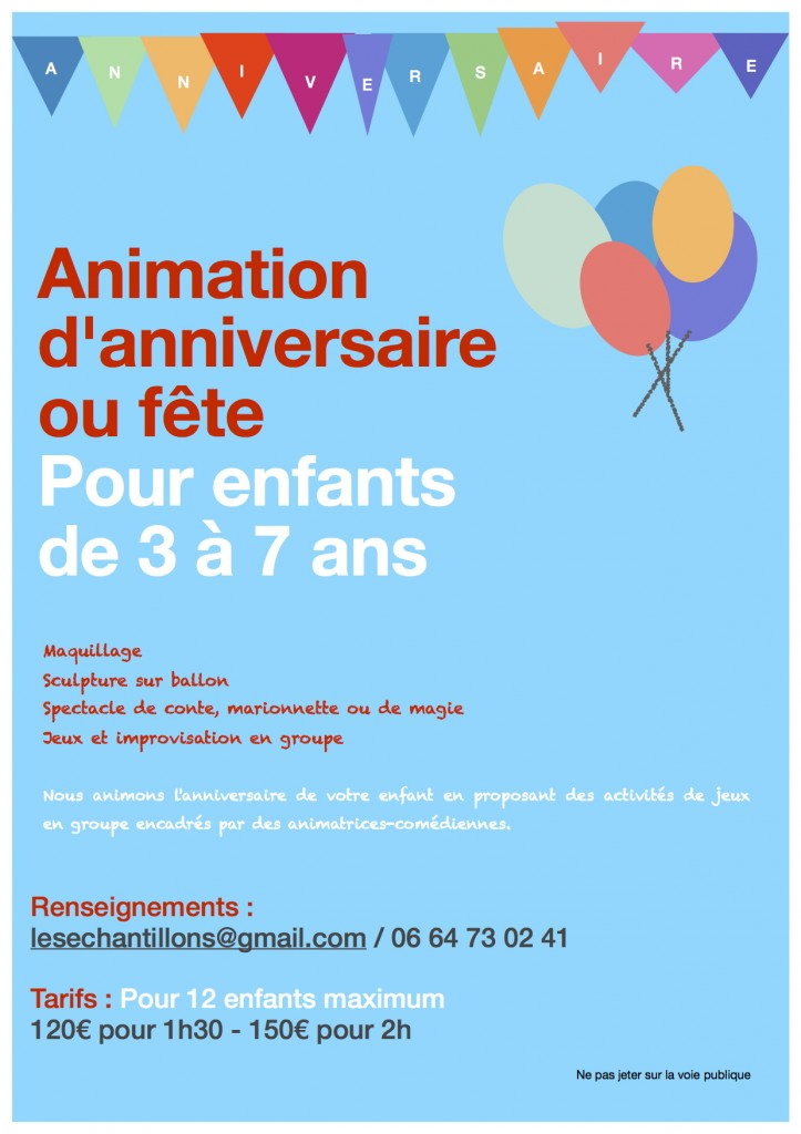 Anniversaire - animations